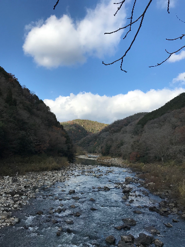 福知山廃線ハイキングコースの武庫川にて